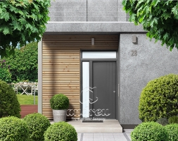 Metal door hinged residential Contemporary Andreu housing 190034
