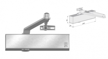 accessory ECO Arm door closer TS20DF metal door andreu