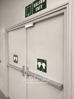 Accessoire barre antipanique encastrée porte métallique Andreu 180024