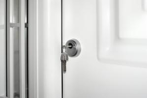 accesorio cilindro residencial puerta metalica batiente andreu