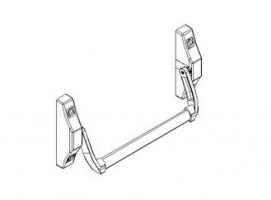 Accessoires barres anti-panique embouties 2000N porte métallique andreu 140117