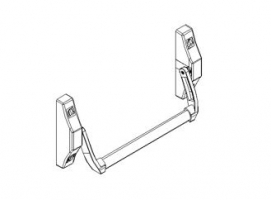 accessory anti-panic stuffed bar 2000N metal door andreu 140117