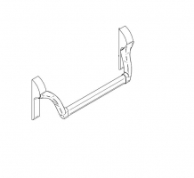 accesorio antipanico embutir ECO EPN 900 puerta metalica andreu