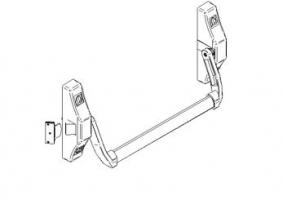 Accessoire antipanique 2000S porte métallique Andreu 140117