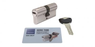 accesorio cilindro TESA TX80 puerta metalica batiente andreu