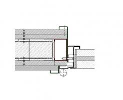 contrecadre tubulaire 70x40 avec recouvrement mur placo coupe feu EI290 porte métallique andreu