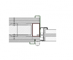 contramarco tubular 70x40 sin solape muro flexible cortafuegos EI290 puerta metalica andreu