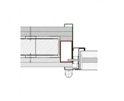 contrecadre tubulaire 70x40 sans recouvrement mur placo coupe feu EI290 porte métallique andreu