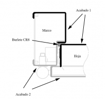 marco COV bicolor puerta metalica andreu