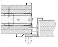 premarco abrazamuros con moldura muro flexible cortafuegos EI260 puerta metalica andreu