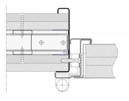 premarco abrazamuros sin moldura muro flexible cortafuegos EI260 puerta metalica andreu
