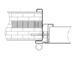premarco abrazamuros sin moldura muro rigido cortafuegos EI260 puerta metalica andreu