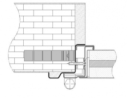 premarco esquinero con moldura muro rigido cortafuegos EI260 puerta metalica andreu