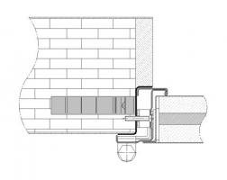 premarco esquinero sin moldura muro rigido cortafuegos EI260 puerta metalica andreu