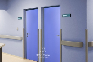 hospital dario contreras santo domingo puerta metalica batiente multiusos panelada andreu