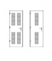 puerta metalica batiente maxima ventilacion multiusos andreu