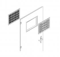 puerta metalica batiente ventilacion cubrerejilla multiusos andreu