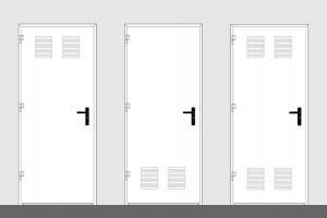 puerta metalica batiente ventilacion doble multiusos andreu