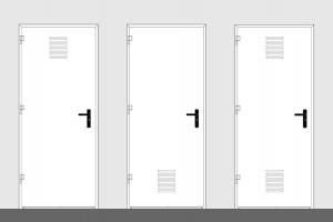 puerta metalica batiente ventilacion simple multiusos andreu