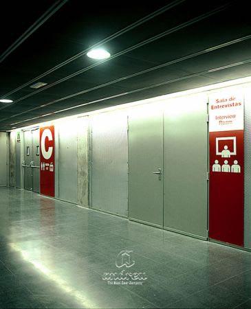 palacio deportes madrid puerta metalica batiente cortafuegos andreu