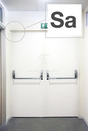 kit control humos Sa humo caliente puerta metálica batiente cortafuegos doble hoja Andreu