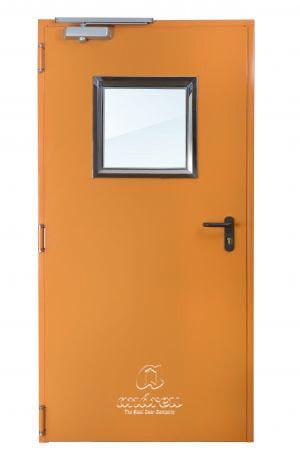 puerta metalica batiente cortafuegos fono turia andreu