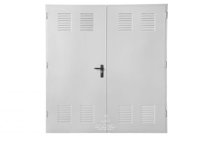 puerta metalica batiente multiusos ensamblada ventilada andreu