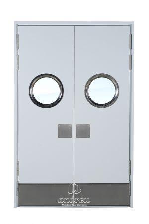 puerta metalica batiente multiusos office swing andreu