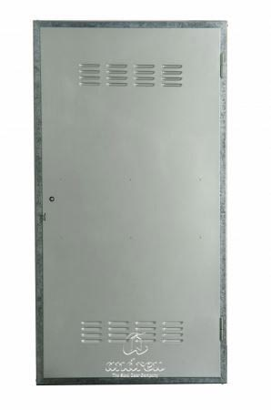puerta metalica batiente multiusos registro compañia ventilado andreu
