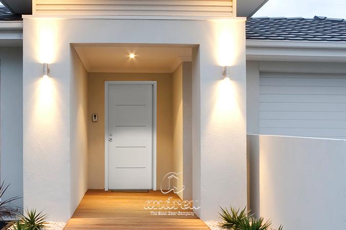 puerta metálica batiente residencial Andreu unifamiliar