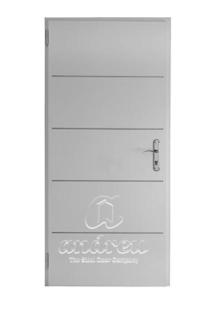 puerta metalica batiente residencial insert andreu