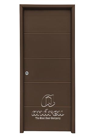 puerta metalica batiente residencial line H andreu