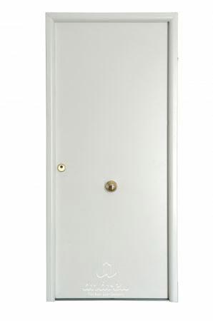 puerta metalica batiente residencial lisa andreu