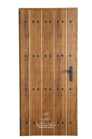 puerta metalica batiente residencial rustik andreu
