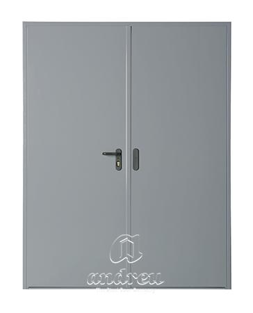 puerta metalica batiente bisagra cierrapuertas oculto cortafuegos doble hoja 90 andreu