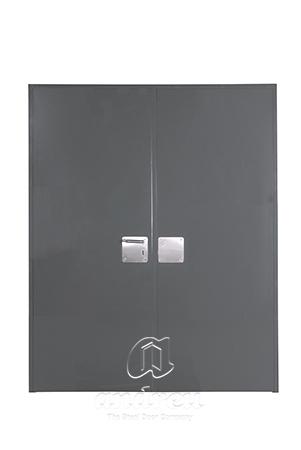 puerta metalica batiente bisagra cierrapuertas oculto cortafuegos premium doble hoja andreu