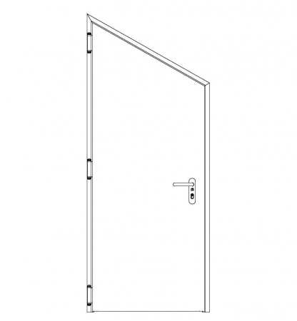 puerta metalica batiente inclinada cortafuegos neo andreu