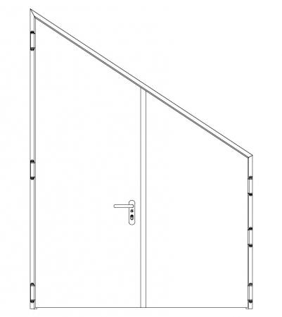 puerta metalica batiente inclinada doble hoja cortafuegos neo andreu