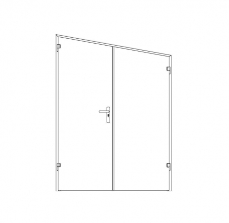 puerta metalica batiente inclinada doble hoja ensamblada andreu