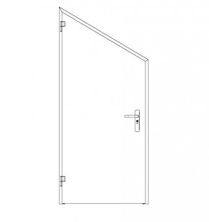 puerta metalica batiente inclinada ensamblada andreu