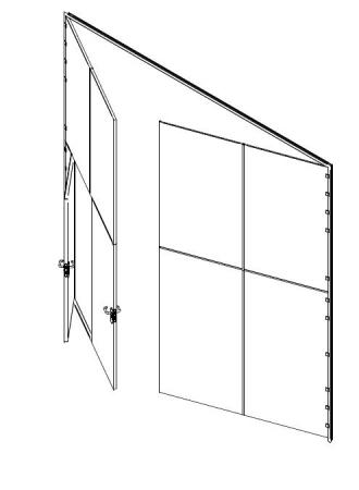 puerta metalica batiente multiusos ensamblada porton andreu