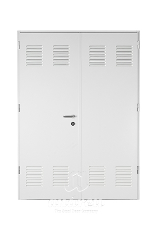puerta metalica batiente multiusos office doble hoja andreu