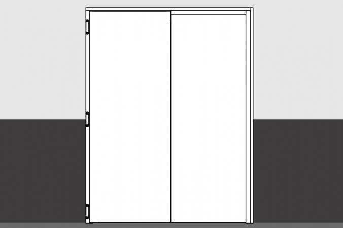 puerta metalica vaiven turia doble hoja doble sentido apertura andreu